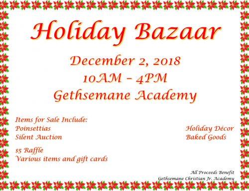 Gethsemane Academy Holiday Bazaar